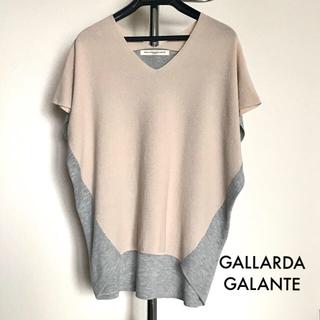 ガリャルダガランテ(GALLARDA GALANTE)のガリャルダガランテ バイカラー 綿ニット サマーニット サマーセーター(ニット/セーター)