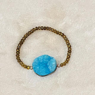 アッシュペーフランス(H.P.FRANCE)のPono'i ポノイー★ブルー鉱物石 ブレスレット(ブレスレット/バングル)