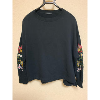 ジーナシス(JEANASIS)のネット限定販売 JEANASIS  花柄 刺繍 トレーナー プルオーバー(トレーナー/スウェット)