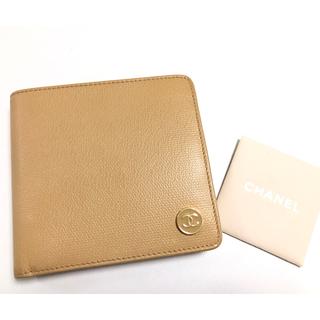 シャネル(CHANEL)の超美品 正規品CHANEL ココ 財布 ブラウンベージュ(折り財布)