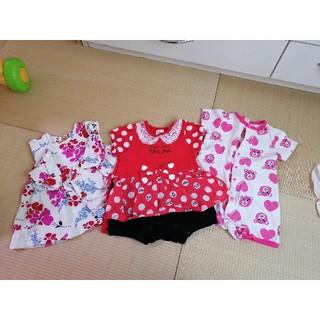 アナップキッズ(ANAP Kids)のベビー服3点セット(ロンパース)