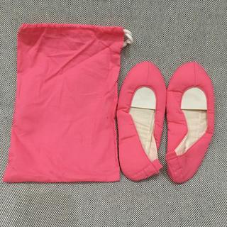 ベルメゾン(ベルメゾン)の携帯用  室内 ルームシューズ 巾着付き 千趣会 未使用(スリッパ/ルームシューズ)