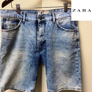ザラ(ZARA)のZARA MAN ブリーチ デニム ショーツ 34 ザラ マン ショートパンツ(ショートパンツ)