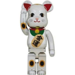 メディコムトイ(MEDICOM TOY)のBE@RBRICK招き猫 銀メッキ 弐 1000%(その他)