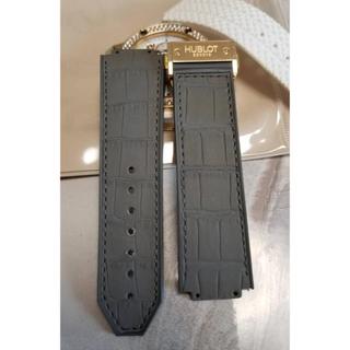 ウブロ(HUBLOT)のHUBLOT 腕時計 純正ベルト グレー アリゲーター(レザーベルト)