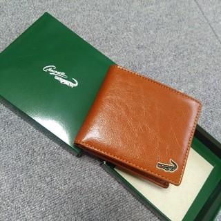 クロコダイル(Crocodile)のクロコダイル 二つ折り財布 ブラウン(折り財布)
