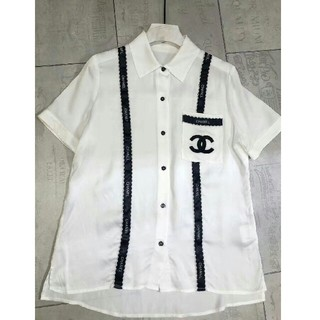 シャネル(CHANEL)のアルファベットウェビングシャツ(ひざ丈ワンピース)