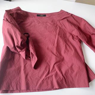 ノーブル(Noble)のnoble ボルドー タイプライターシャツ(シャツ/ブラウス(長袖/七分))