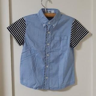 ファミリア(familiar)の美品 ファミリア ブラウス 半袖シャツ ボタンシャツ(ブラウス)