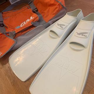ガル(GULL)のGULL MEW フィン メッシュバッグ ダイビング セット メッシュ 鞄(マリン/スイミング)