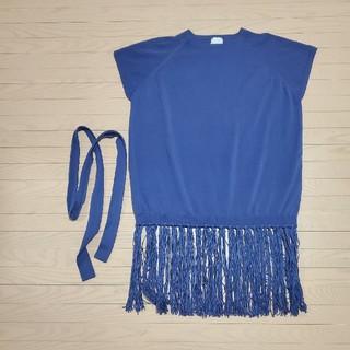 アメリヴィンテージ(Ameri VINTAGE)のLONG FRINGE SWING TOP(Tシャツ(半袖/袖なし))