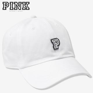 ヴィクトリアズシークレット(Victoria's Secret)のPINK♡ベースボールキャップ♡トリンプホワイト①(キャップ)