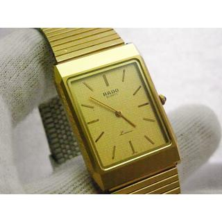 ラドー(RADO)のRADO Louvre 腕時計 レクタンギュラー ゴールド(腕時計(アナログ))