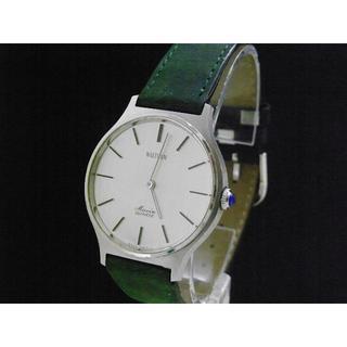 ウォルサム(Waltham)のWALTHAM Maxim 腕時計 QUARTZ 2針 青いリューズ(腕時計(アナログ))