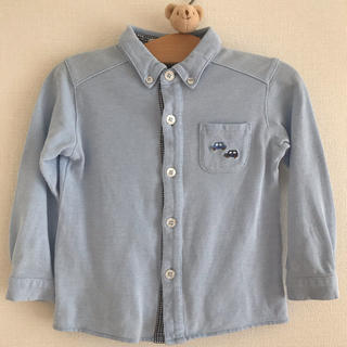 ファミリア(familiar)のfamiliar 鹿の子ポロシャツ 90(ブラウス)
