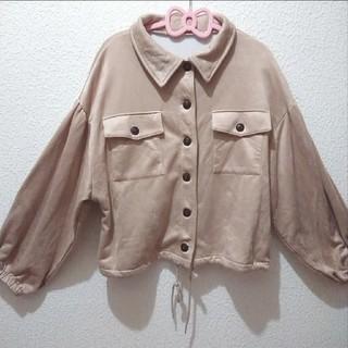 シマムラ(しまむら)の美品 しまむら スエード オーバーサイズ ジャケット ジャンパー♥️L GRL(ブルゾン)