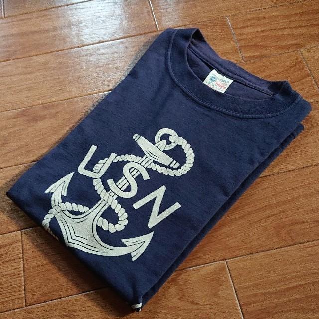 Buzz Rickson's(バズリクソンズ)の【 BUZZ RICKSON'S 】 人気のUSN  ネイビーTシャツ メンズのトップス(Tシャツ/カットソー(半袖/袖なし))の商品写真