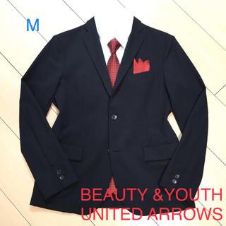 BEAUTY&YOUTH UNITED ARROWS - 極美品★ユナイテッドアローズ×ブラックテーラードジャケット/アンコン/A562