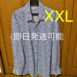 ユニクロ(UNIQLO)の必見 ❹ UNIQLO美品 プレミアムリネン LIBETY XXL(シャツ)