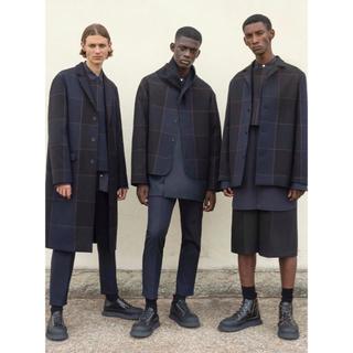 ジルサンダー(Jil Sander)のjil sander 19ss check jacket(ノーカラージャケット)