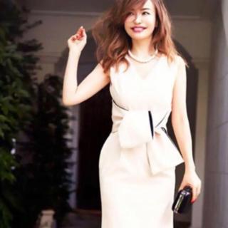 DRESS LAB リボン タイト ワンピース ドレス S(ミディアムドレス)