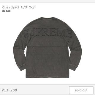 シュプリーム(Supreme)のsupreme Overdyed L/S Top(Tシャツ/カットソー(七分/長袖))