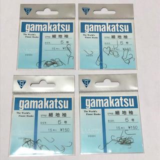 ガマカツ(がまかつ)のがまかつ 製 細地袖 5号4袋セット (釣り糸/ライン)