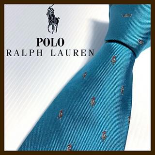 ラルフローレン(Ralph Lauren)の【激レア】ラルフローレン ポニー総柄 シルクネクタイ アメリカ製(ネクタイ)