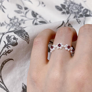 ディーホリック(dholic)のリング 指輪 韓国 花 アメジスト No.21(リング)