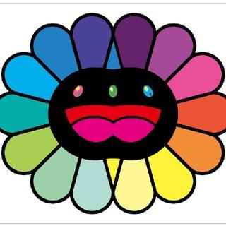 村上隆 版画 Multicolor Double Face : Black 送込(版画)