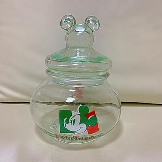 ディズニー(Disney)のミッキー ガラス製 マカロニ入れ(容器)