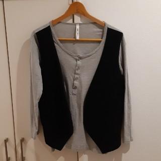 グラム(glamb)のグラム ロングTシャツ グレー メンズ(Tシャツ/カットソー(七分/長袖))