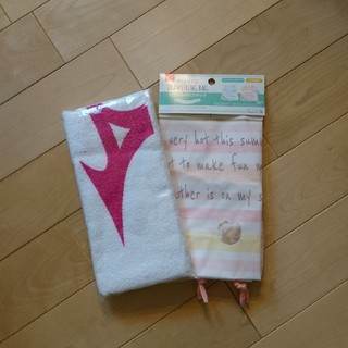 ミズノ(MIZUNO)の新品未開封 ミズノ フェイスタオル ビニールバッグ(タオル/バス用品)