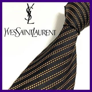 イヴサンローランボーテ(Yves Saint Laurent Beaute)のイヴ・サンローラン ストライプ シルクネクタイ イタリア製 人気ブランド(ネクタイ)
