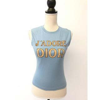 クリスチャンディオール(Christian Dior)のChristian Dior ディオールアップリケジャドール ノースリーブ38(タンクトップ)