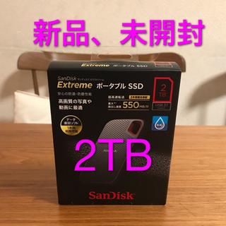 SanDisk - 【新品、5月に購入】 2TB サンディスク ポータブルSSD