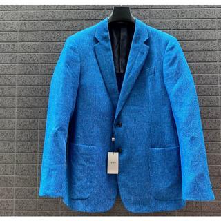 アルマーニ コレツィオーニ(ARMANI COLLEZIONI)の新品□ XLサイズ アルマーニ 価格18万円 春夏リネンジャケット青(テーラードジャケット)