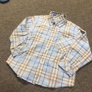 バーバリー(BURBERRY)のバーバリー シャツ ワイシャツ 104cm ブルー 男の子(ブラウス)