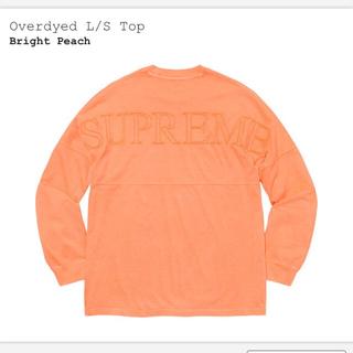シュプリーム(Supreme)のsupreme overdyed L/S TOP bright peach(Tシャツ/カットソー(七分/長袖))