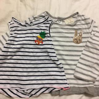 ザラ(ZARA)のザラ ボーダートップス2点 80(Tシャツ)