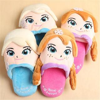 大人気!アナと雪の女王♡エルサ&アナスリッパ♪子ども用 子供用 キッズ ガールズ