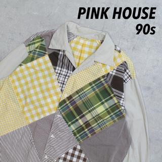 ピンクハウス(PINK HOUSE)の90s PINK HOUSE Nature Trail クレイジーパターン レア(シャツ)