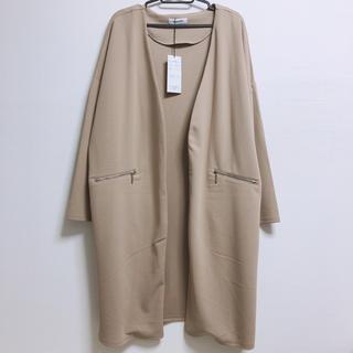 シマムラ(しまむら)のスプリングコート ノーカラー ジャケット 新品 オケージョン 3L 大きいサイズ(スプリングコート)