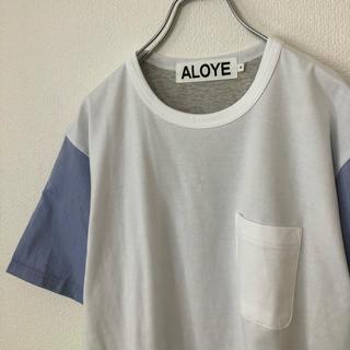 アロイ(ALOYE)の【美品】ALOYE/アロイ Tシャツ 切り替え 蛍光色 ビームス/BEAMS(Tシャツ/カットソー(半袖/袖なし))