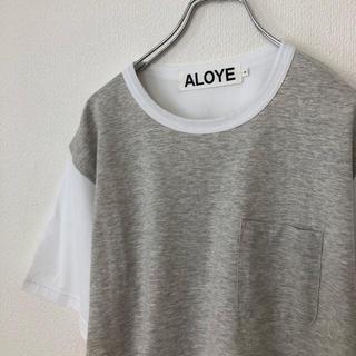 アロイ(ALOYE)のアロイ/ALOYE Tシャツ 切り替え 蛍光色 ビームス/BEAMS(Tシャツ/カットソー(半袖/袖なし))