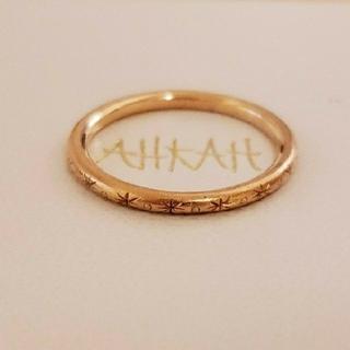 アーカー(AHKAH)のAHKAH ピンクゴールド💎エクラリングS(リング(指輪))