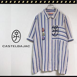 カステルバジャック(CASTELBAJAC)のカステルバジャック★ビッグサイズ★ボタンダウン★ストライプシャツ★ロック&ポップ(シャツ)