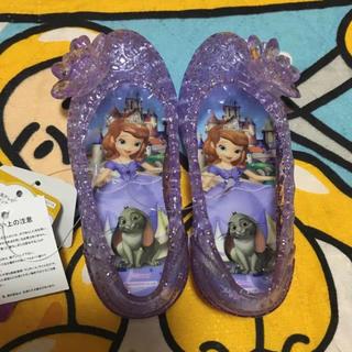 ディズニー(Disney)の新品 ちいさなプリンセスソフィア ジュエルサンダル ガラスの靴 14cm(サンダル)
