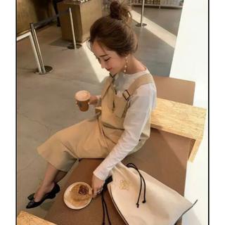 ディーホリック(dholic)のhyeon ヘヨン big pocket jumper skirt  (ロングワンピース/マキシワンピース)