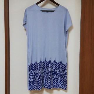 グラニフ(Design Tshirts Store graniph)のスワン柄ワンピース(ひざ丈ワンピース)